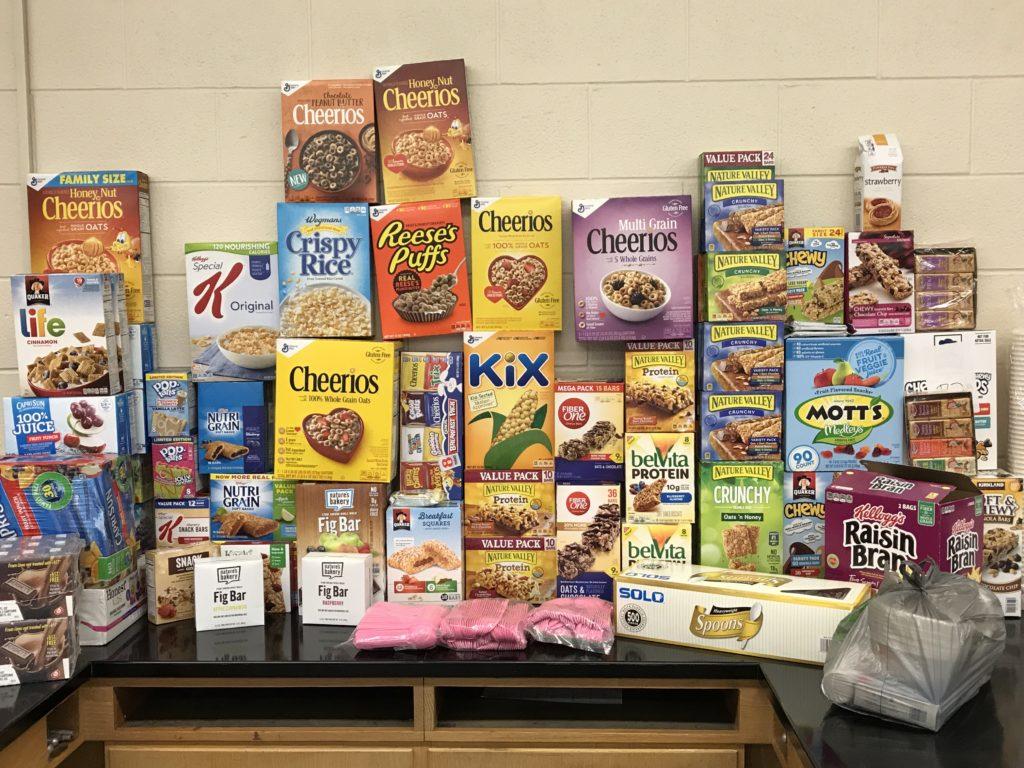 SEA members donate breakfast foods for students