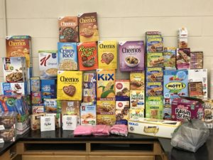 SEA members donate breakfast foods for students